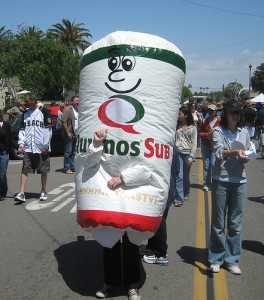 quiznos 264x300 The Swingers Party and the Mascot Expo