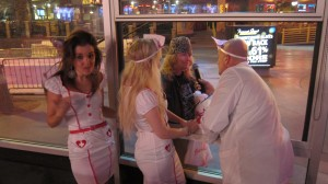 IMG 2139 300x168 Protesting on the Strip, and Belly Shots at the Heart Attack Grill