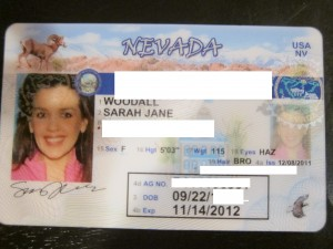 A NV medical marijuana card looks just like a driver's license