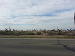 Oil field outside Bakersfield