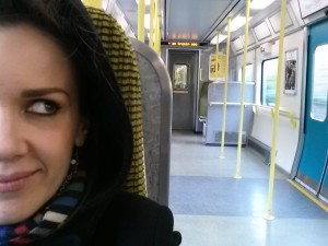 on the train into Dublin