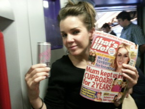 booze and tabloids