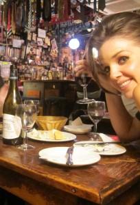 boozing at the wine bar