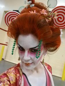 my fabulous Oompa Loompa geisha hairdo