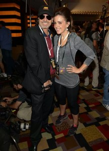 with a paparazzo friend on the red carpet