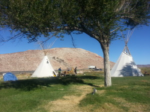 tipis at Bailey's Hot Springs
