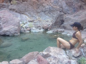 one of the pools at Goldstrike hotsprings