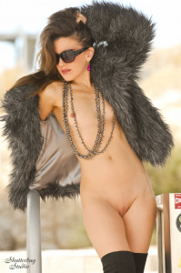 01 Grey Fur Coat and Boots Nude 061A web 199x300 Modeling in Winter