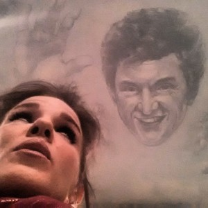 the fabulously creepy ceiling in Liberace's bathroom!