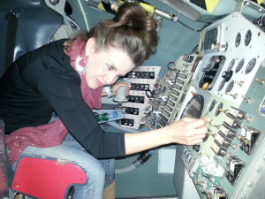 fooling around in a space capsule!