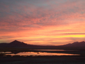 Sunset in Tecopa