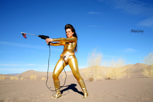Electric Barbarella, trapped on the Planet Dick