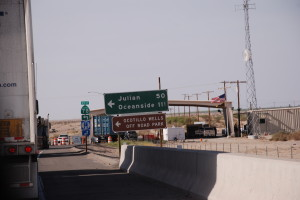 one of the many Border Patrol checkpoints along the road, trying to keep out those damn Mexicans