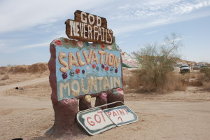 the entrance to Salvation Mtn