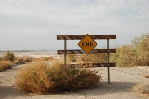 dead end road at the Salton Sea