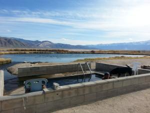 the soaking tub at Fish Lake