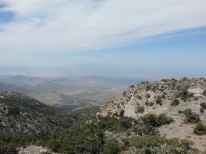 view from the top of Mt. Potosi