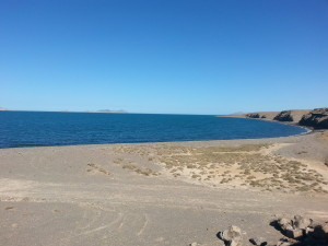 barren desert and the Sea of Cortez