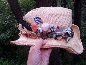 my summer adventure hat is collecting quite an amount of shit!
