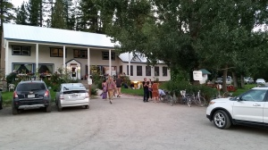 the lodge at Sierra Hot Springs