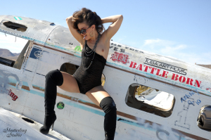 01 Black Lace Lingerie and Plane 081 web 300x199 Villains and Superheroines and the Busted Bunny Ranch
