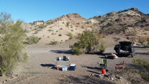 Camping at Craggy Wash