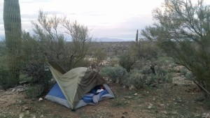 Soggy camping outside Tucson