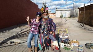 With a wacky busker in Tombstone