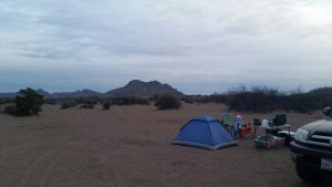 Campsite at the Hot Well Dunes