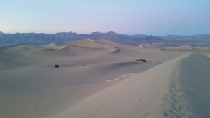 the fabulous Mesquite sand dunes