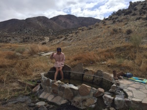 """Soaking"" at Walker Warm Springs"