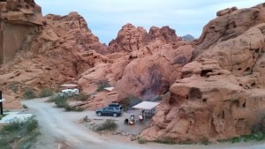 Out campsite at Valley of Fire's Arch Rock Campground