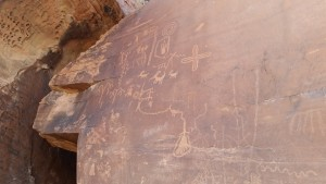 Ancient petroglyphs at Valley of Fire
