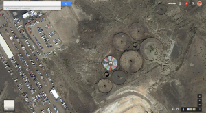 Google Earth screenshot showing Wheel of Misfortune