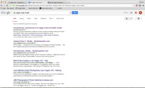 "I'm the first result when you Google ""Las Vegas Nude Model"""