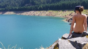Cougar Reservoir, near the hot springs