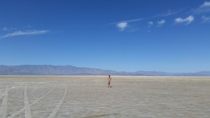 all alone on the playa where Burning Man is held