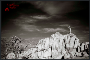 The cross in action. Photo by Dead Clown Studios