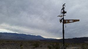 Ominous skies over Saline Valley