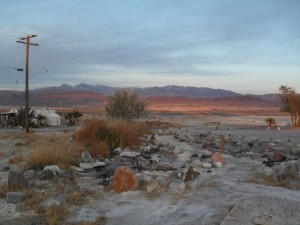 Winter sunset in Tecopa