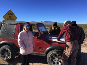 the first of MANY roadside planning seshes -- planning is half the fun of off-roading!