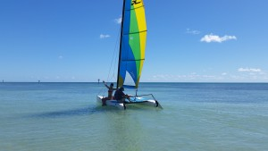 Sailing on a Hobie Cat with Dr. K