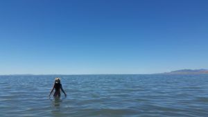 Skinny dipping in the Great Salt Lake
