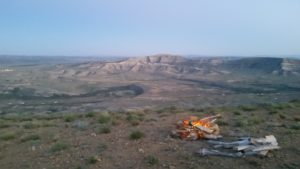 Campsite overlooking Rock Springs, WY
