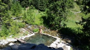 Weir Creek hot springs