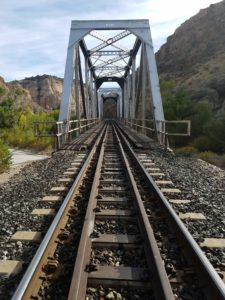 Railroad bridge in Rainbow Canyon