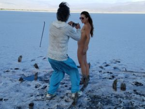 Nudies on the salt lake!